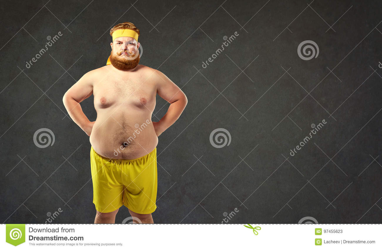 Funny fat naked