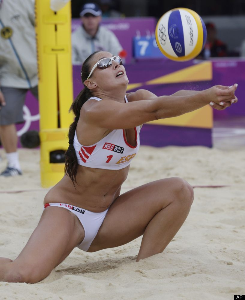 Naked pro beach volleyball girl