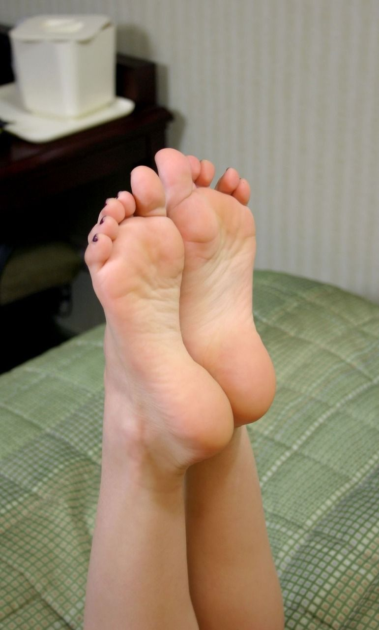 Sexy soft female naked soles